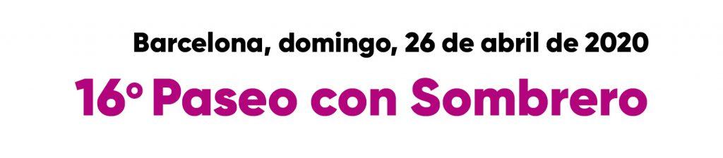Barcelona, domingo, 26 de abril de 202016º Paseo con Sombrero
