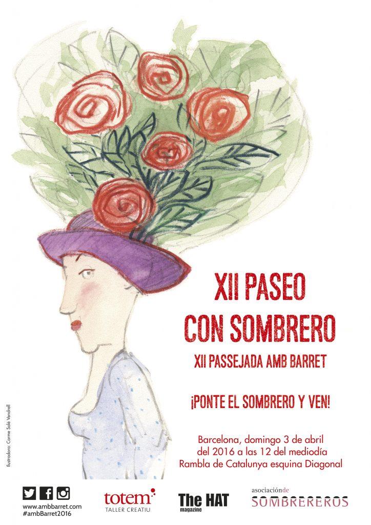 Cartel del 12º Paseo con Sombrero