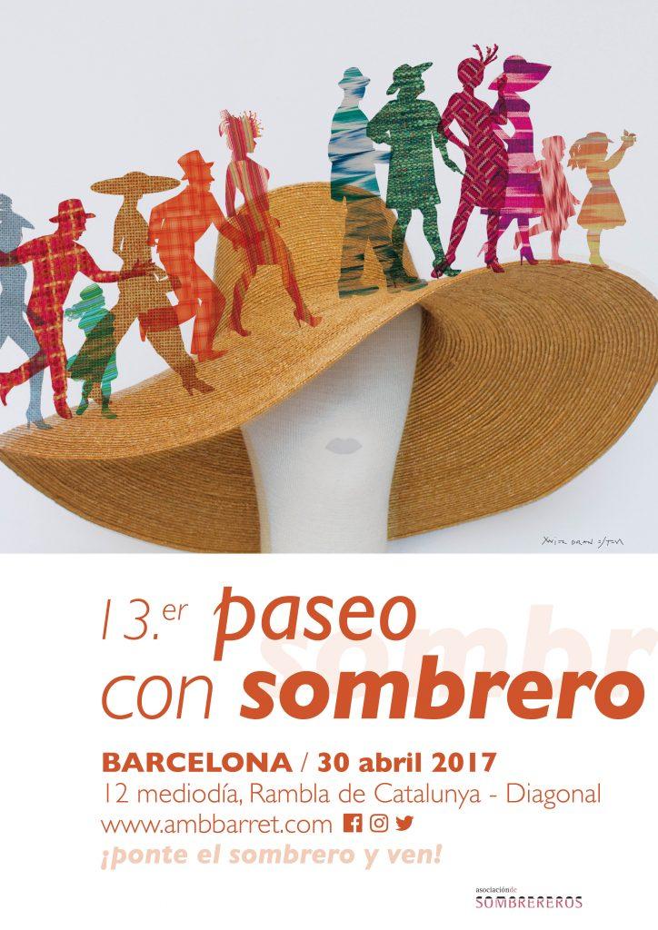 Cartel del 13º Paseo con Sombrero